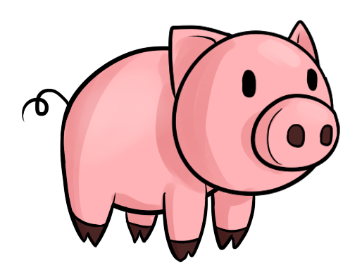 graphic Pig clipart. Animated