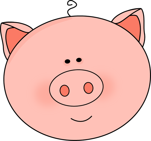 vector freeuse library Pig Face Clip Art