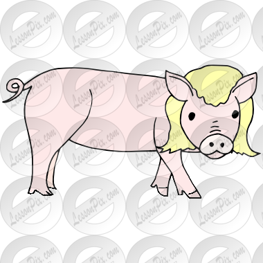 graphic transparent download PIg in a Wig Picture for Classroom