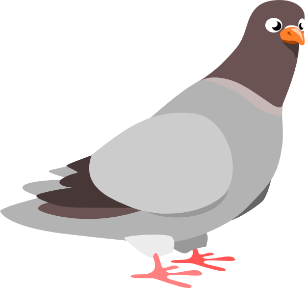 clip black and white download Clip art at clker. Pigeon clipart