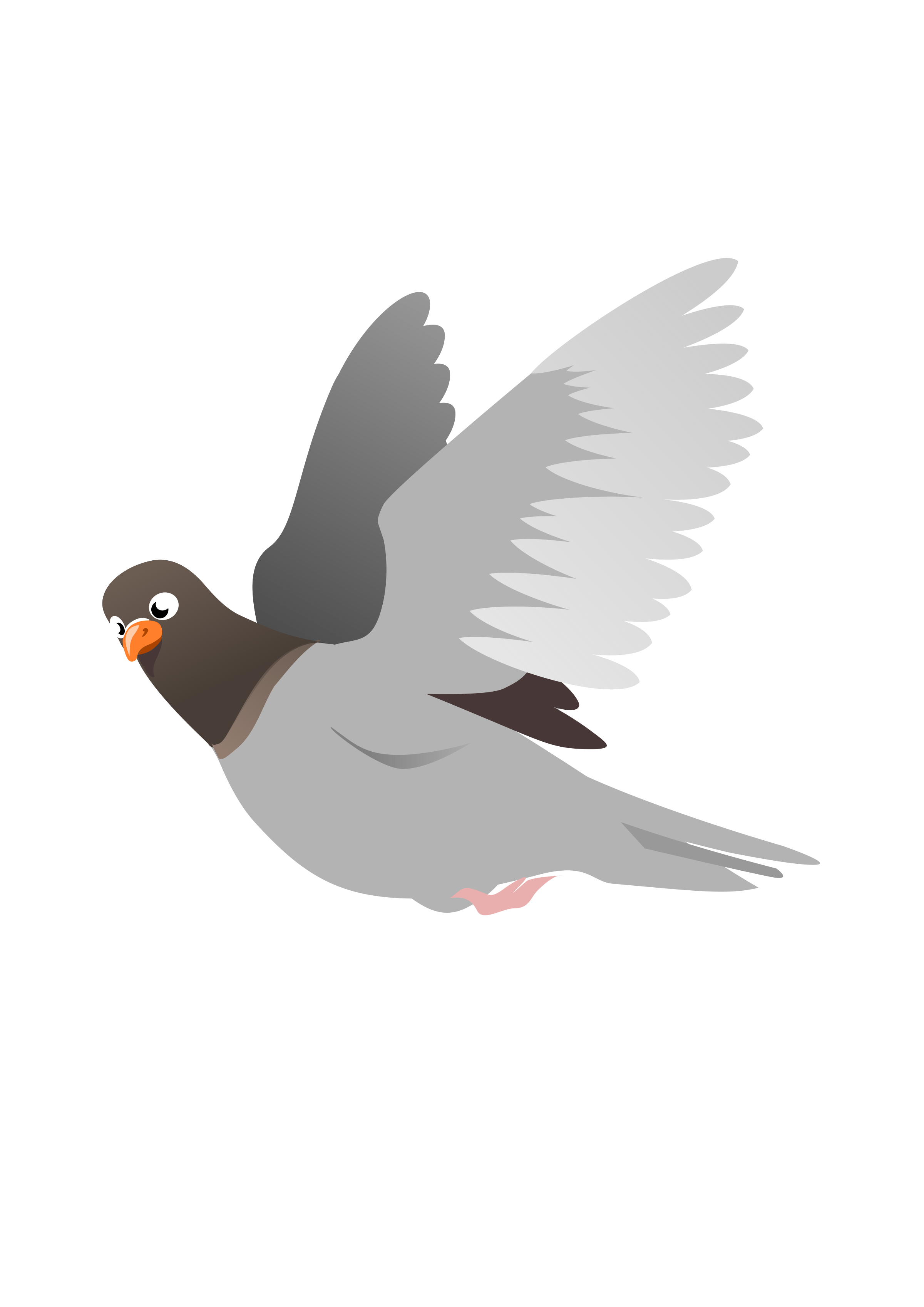 clip black and white library Pigeon clipart. A flying big image