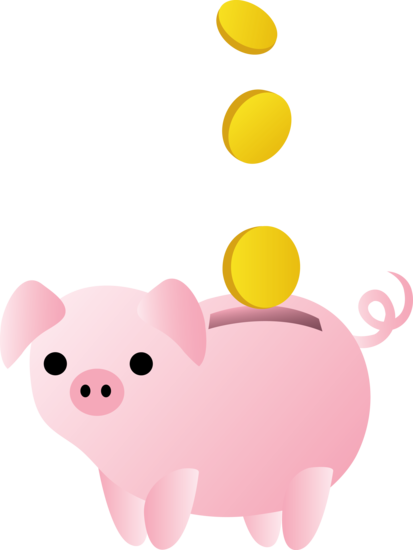 clip art free library Piggy Bank With Coins