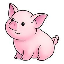 jpg black and white library Pig google zoeken doodle. Piggy clipart.