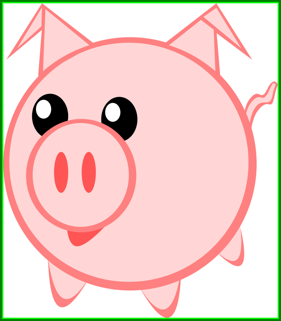 graphic royalty free Incredible cerdito little pig. Piggy clipart.