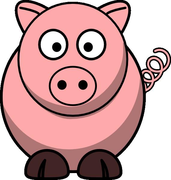 svg download Cartoon pig piggie bank. Royalty free clipart