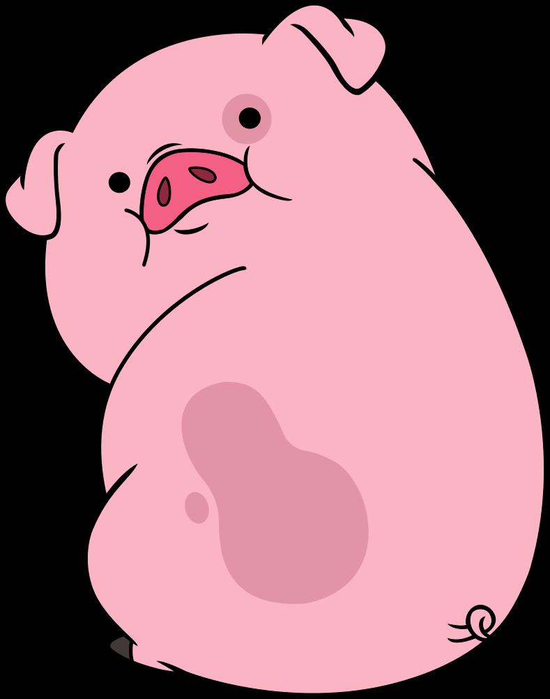 banner black and white cute pig cartoon
