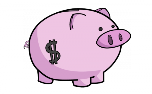 picture free stock Cute Piggy Bank Clipart