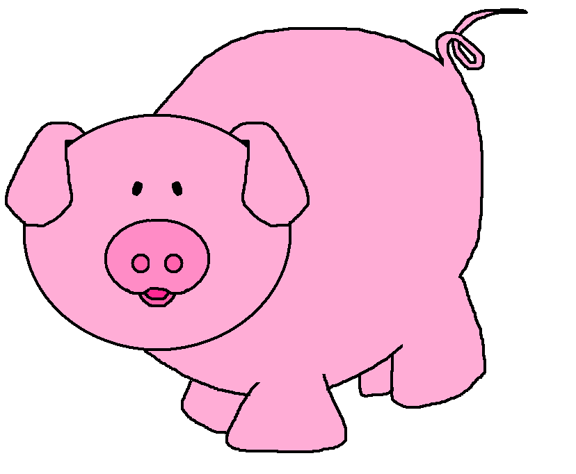 svg royalty free library Piggy clipart.  pigs.