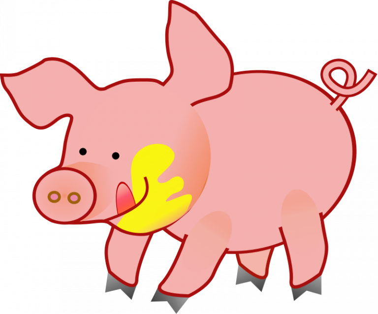 svg royalty free stock Cute pig clip art. Pigs clipart.