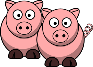 svg freeuse Two clip art at. Pigs clipart.
