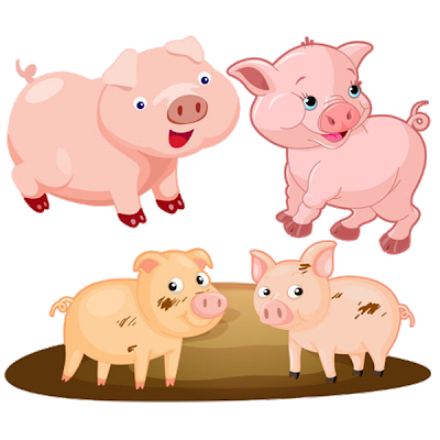 picture royalty free library Pigs clipart. Funny cartoon farm animal.