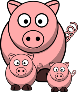 clip art transparent download Momma with clip art. Pigs clipart baby pig.