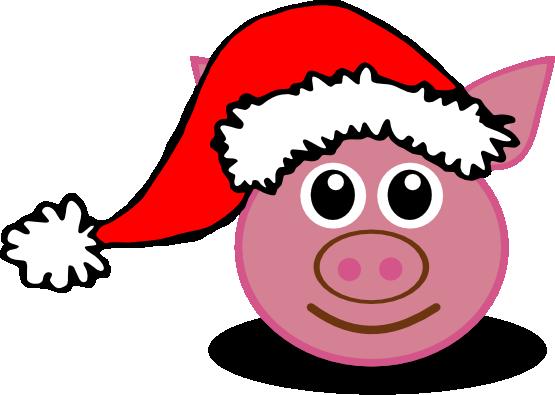 transparent download Christmas Pig Clipart