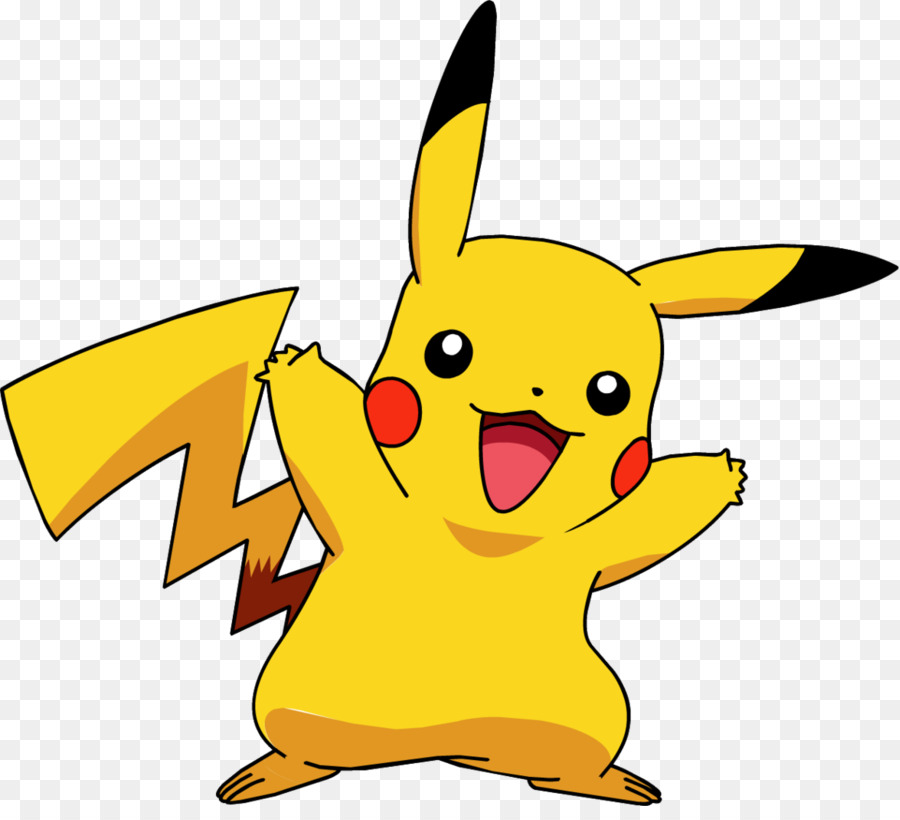 graphic freeuse Pikachu clipart. Ash and yellow cartoon.