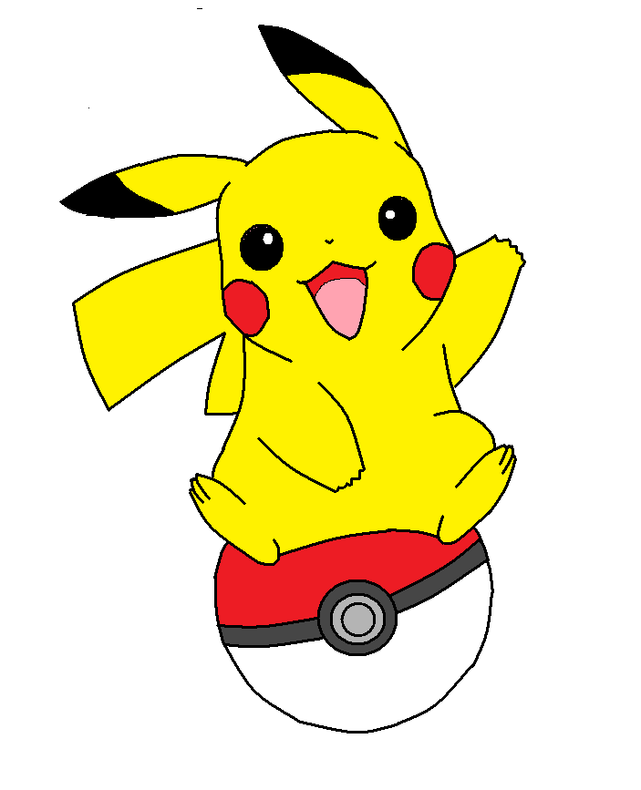 vector black and white download Best drawing . Pikachu clipart.