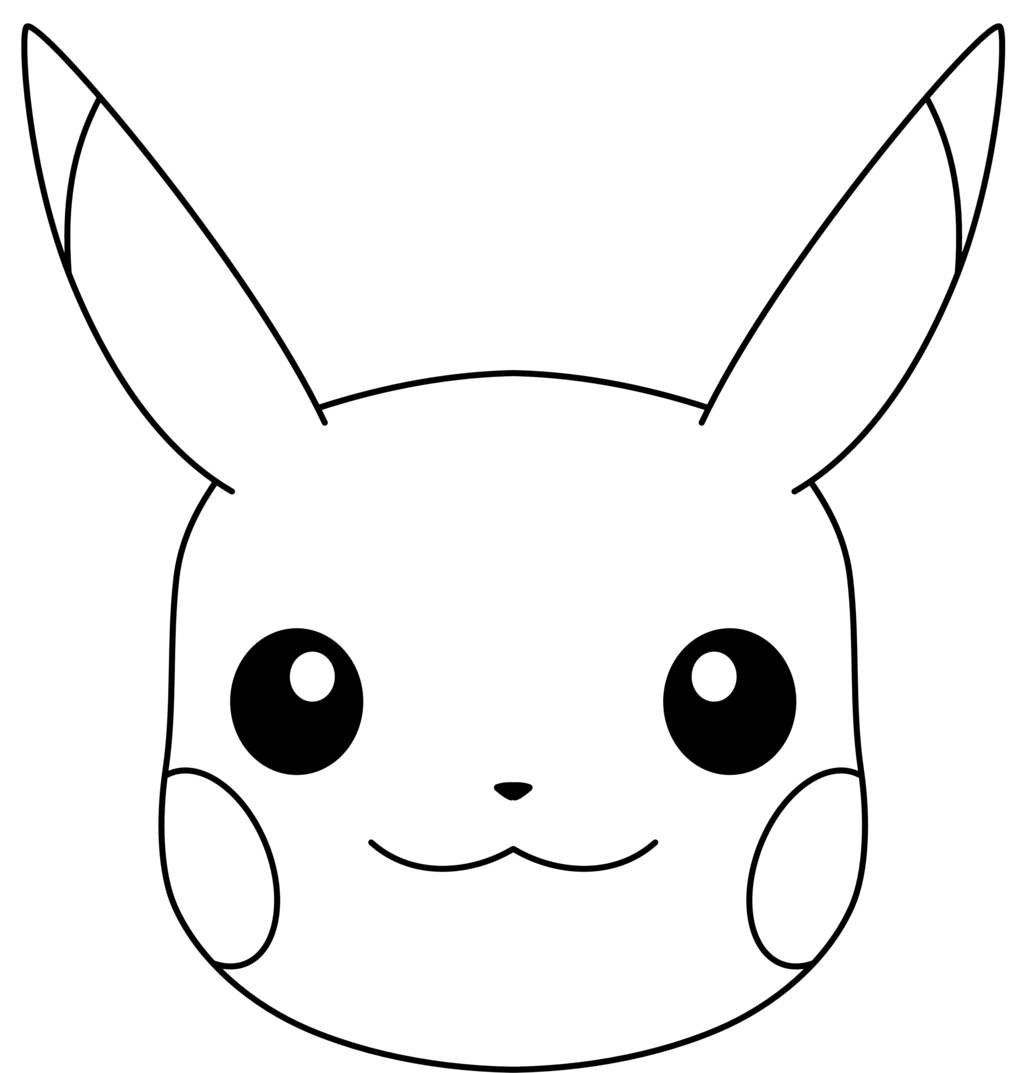 clip art freeuse library Pikachu clipart black and white. Face png transparent images