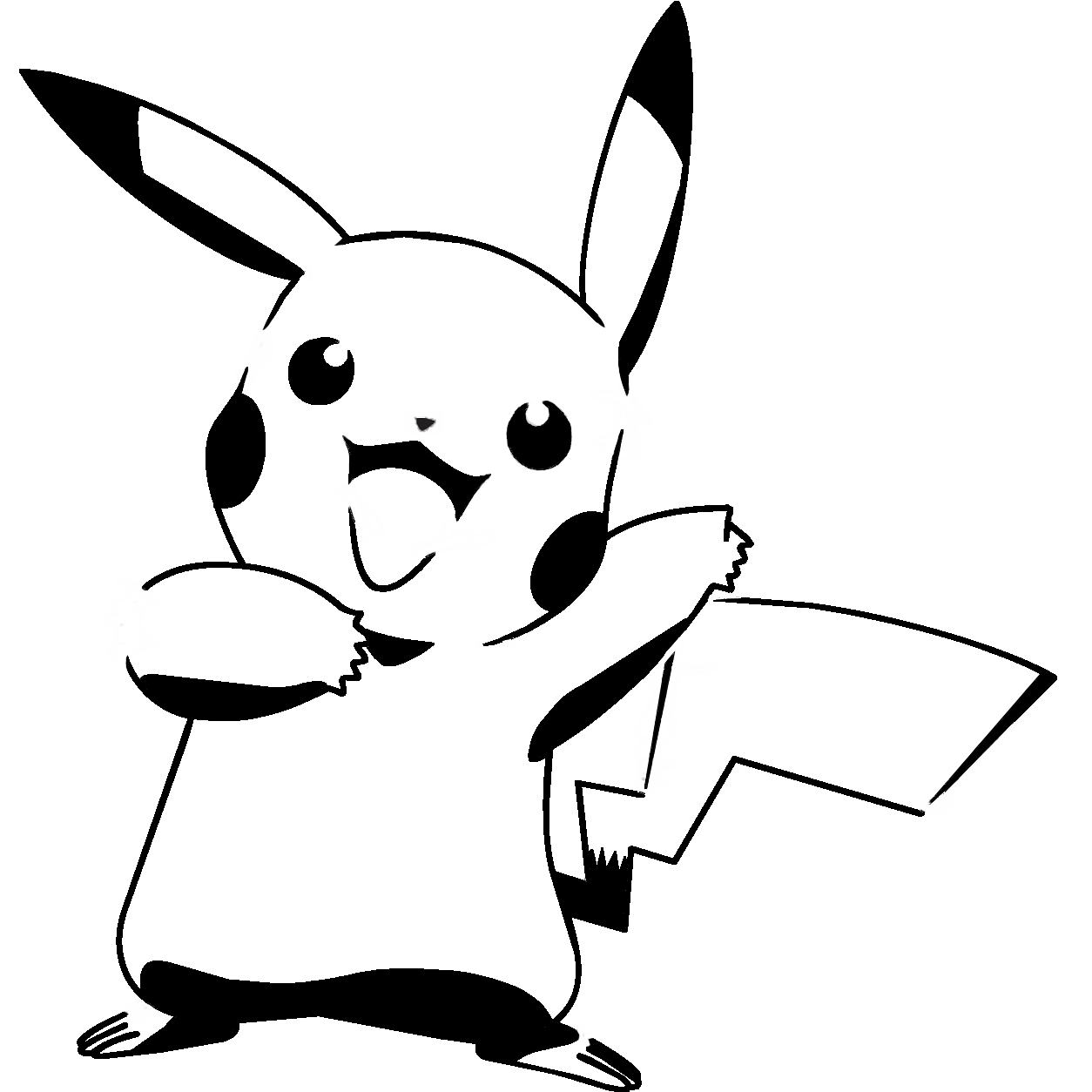 banner transparent Pikachu clipart black and white. T no islands improvement