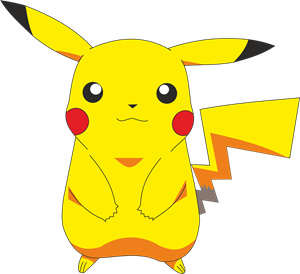 library Pikachu svg. Logo vector free download