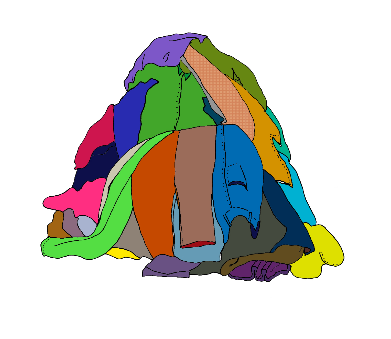 jpg transparent stock Pile of clothes clipart. Free download best