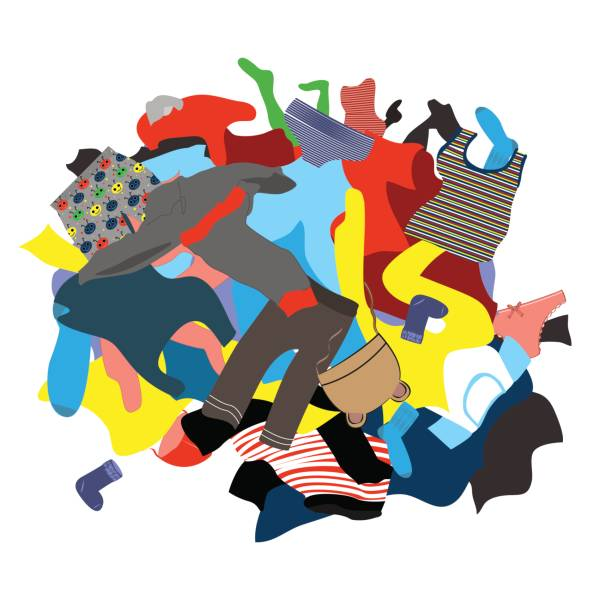 picture royalty free stock Station . Pile of clothes clipart