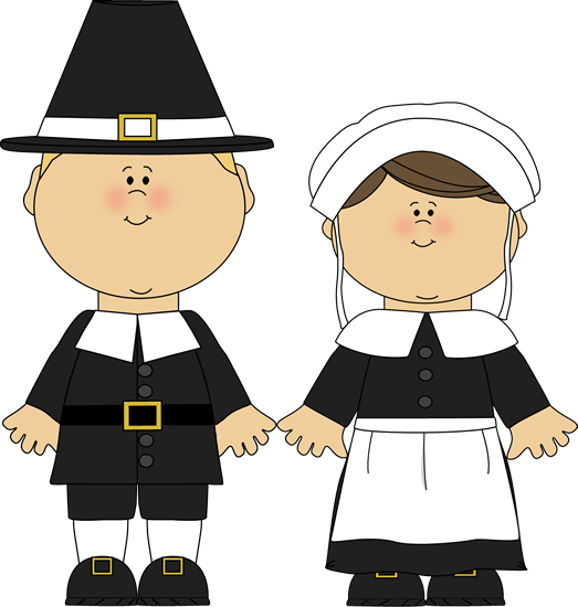 image black and white library Pilgrim boy and girl. Advertising clipart guy