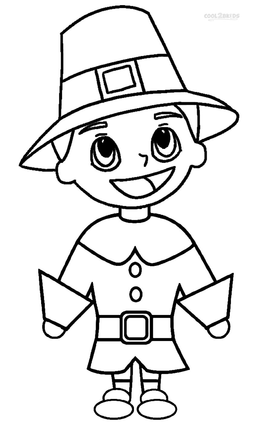 vector freeuse stock Printable pilgrims pages for. Pilgrim drawing coloring page