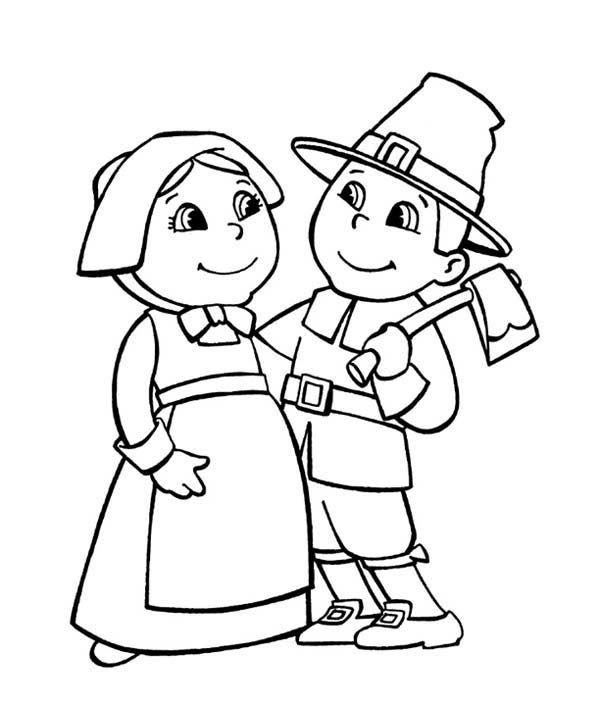 svg free Pilgrim drawing coloring page. Free printable pages for