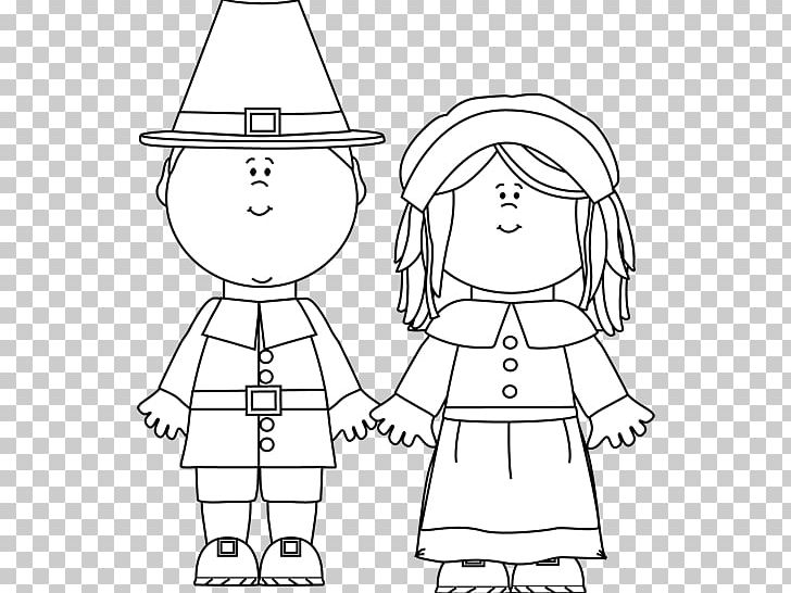 image freeuse stock Pilgrims clipart black and white. Thanksgiving png angle