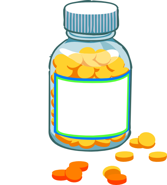 royalty free library Pills blank bottle clip. Pill clipart.