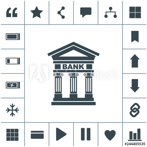 picture transparent download Pillars vector building. Bank icon with the