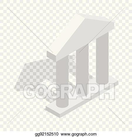 graphic royalty free stock Pillars vector building. Clip art facade with