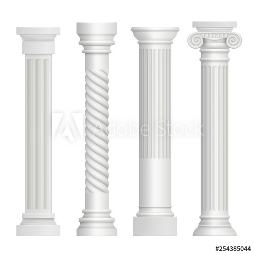 clip library download Antique column historical greek. Pillars vector building