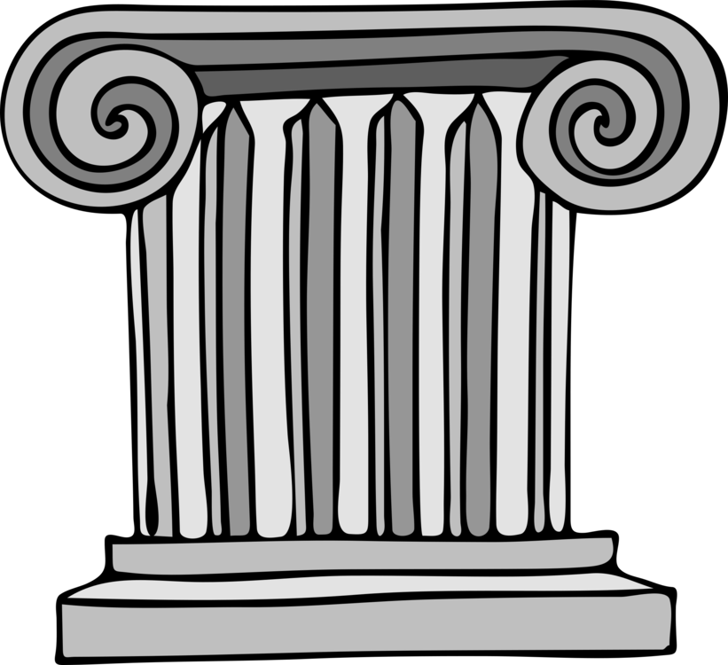 clipart free library  pillar drawing for. Roman vector column