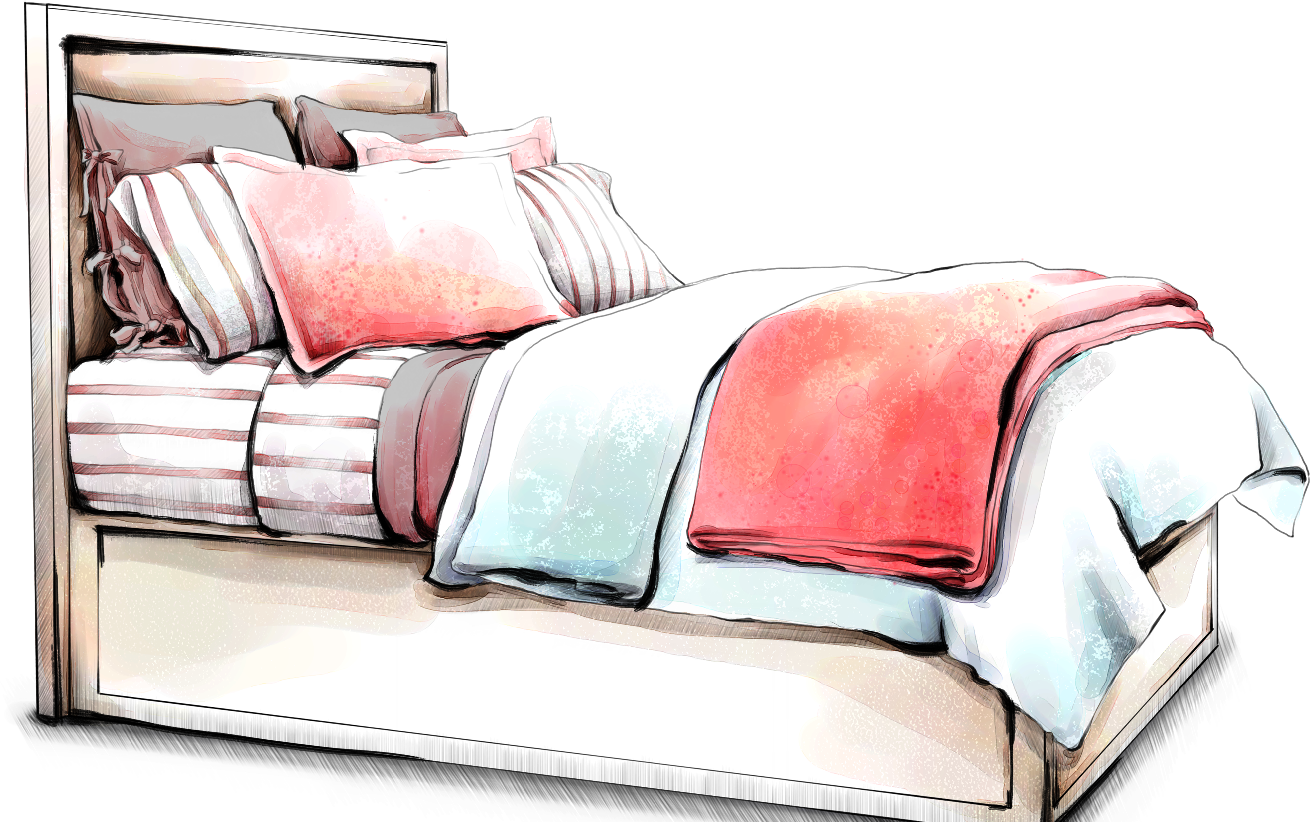 clip black and white library Interior design services furniture. Drawing sheet hospital bed
