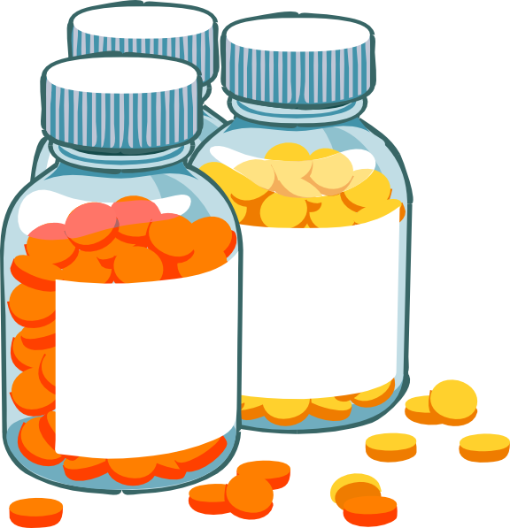 banner black and white Blank pill bottles clip. Pills clipart