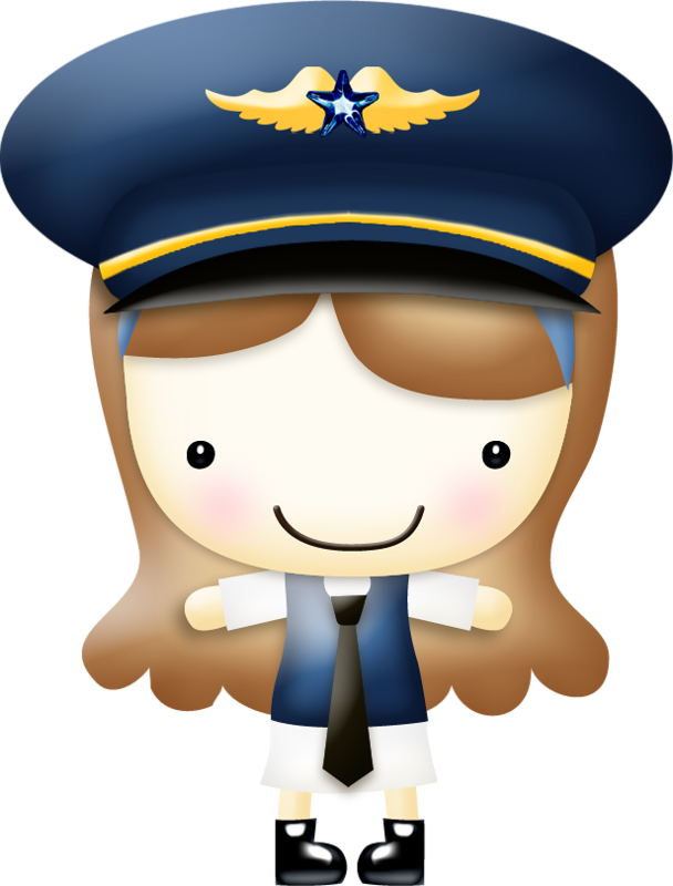 graphic royalty free In the clouds airline. Captain clipart airplane.