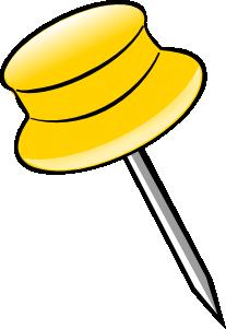 vector transparent Pin clipart. Yellow clip art at.