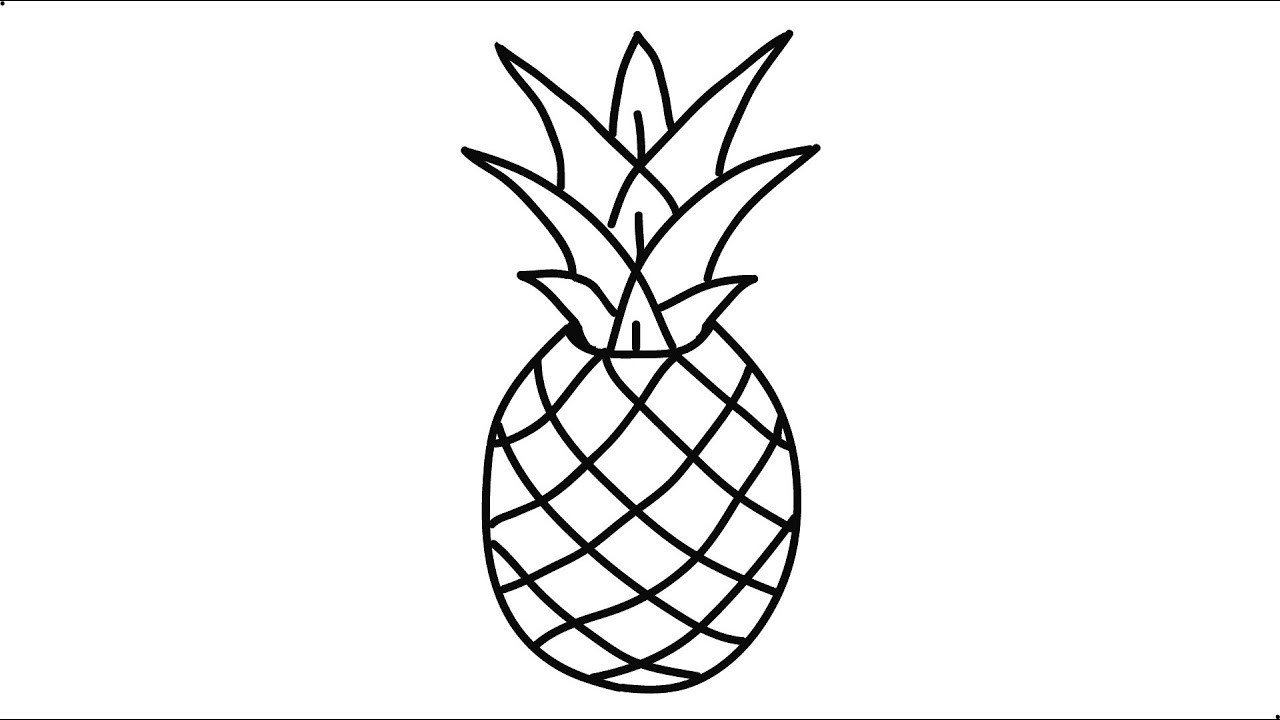 clipart freeuse stock Pineapples drawing. How to draw a