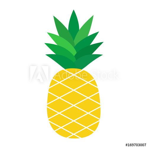 picture royalty free Pineapple cartoon illustration isolated. Pinapple vector
