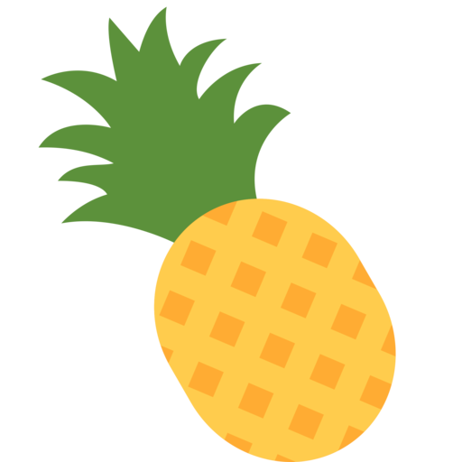 jpg black and white stock Pinapple vector simple. Collection of free pineapple
