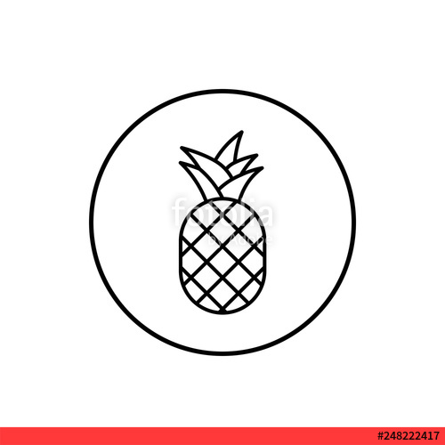 clipart transparent download Pineapple icon fruit symbol. Pinapple vector simple