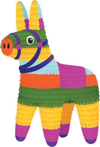 black and white Free donkey cliparts download. Pinata clipart.