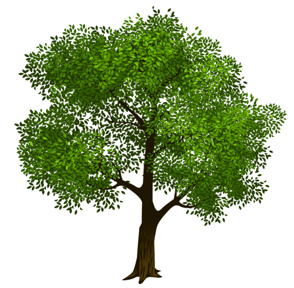 vector black and white download Transparent Green Tree Clipart Picture
