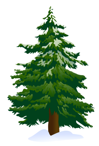 graphic royalty free download Drawing snow tree. Clip art snowy pine