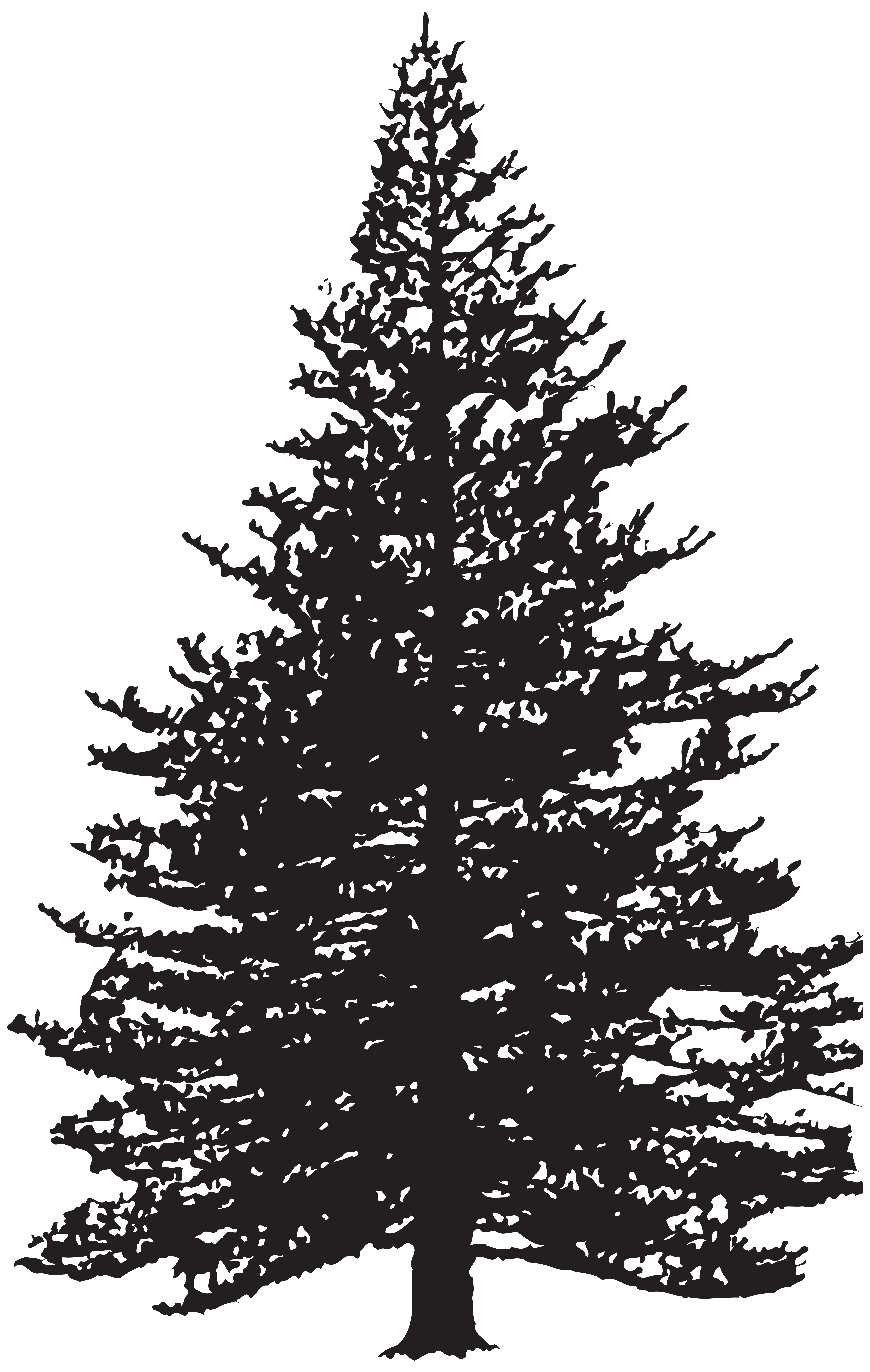 graphic black and white download Pine trees clipart black and white. Tree silhouette clip art