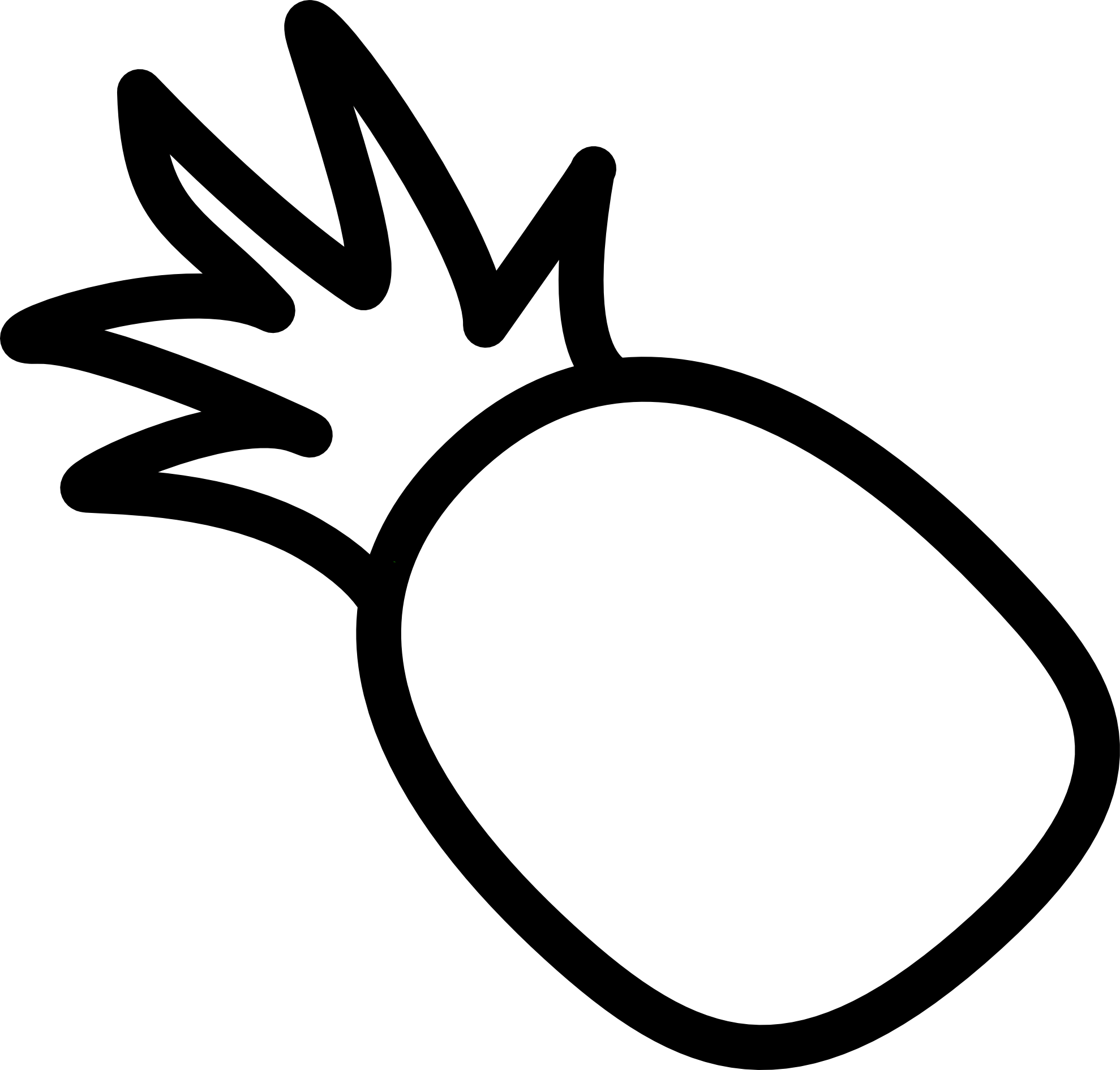 clipart transparent stock Pineapple clipart black and white. Icon panda free images