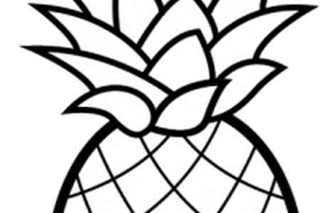 banner black and white stock Download wallpaper free full. Pineapple clipart black and white