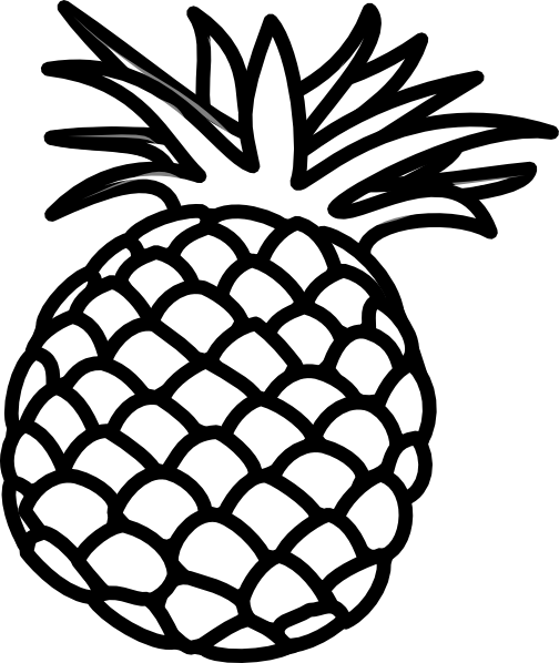 jpg black and white Pineapple drawing at getdrawings. Pinapple vector black and white