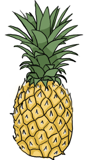 clipart freeuse How to draw a. Drawing s pineapple