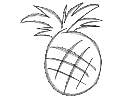 png black and white stock Pineapples drawing. At getdrawings com free